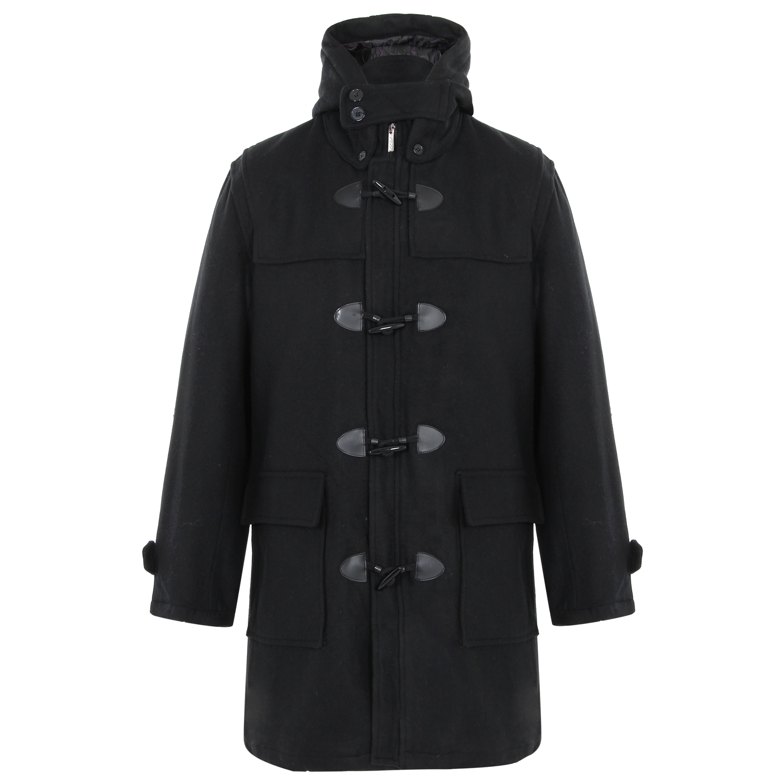 Mens Military Double Breasted Woollen Smart Winter Pea ...